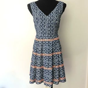 NEW Skies Are Blue Embroidered Fit Flare Dress S